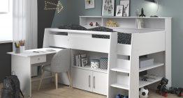 Multifunkčná posteľ spísacím stolom ako ideálne riešenie do malých izieb